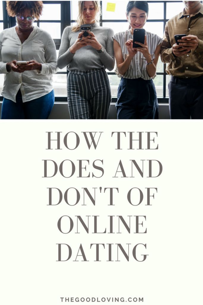 Dating websites dos en donts