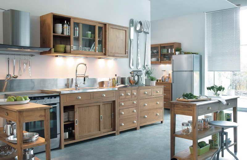 impressionnant meuble de cuisine indépendant | Décoration française ...