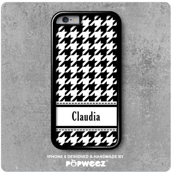 Coque iPhone 6 Pied de Poule Personnalisée avec Prénom par POPWEEZ ...