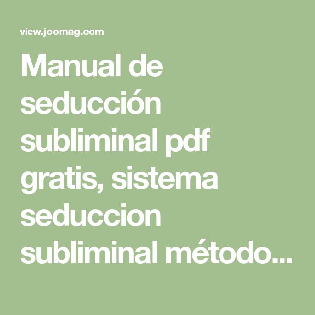 Seduccion Subliminal Pdf