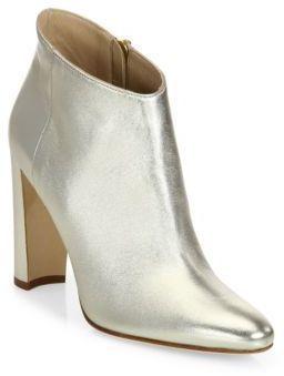 2b2db4b73f9b4 Manolo Blahnik Brusta Metallic Leather Block Heel Booties, fashion  designers, women s fashion, outfit