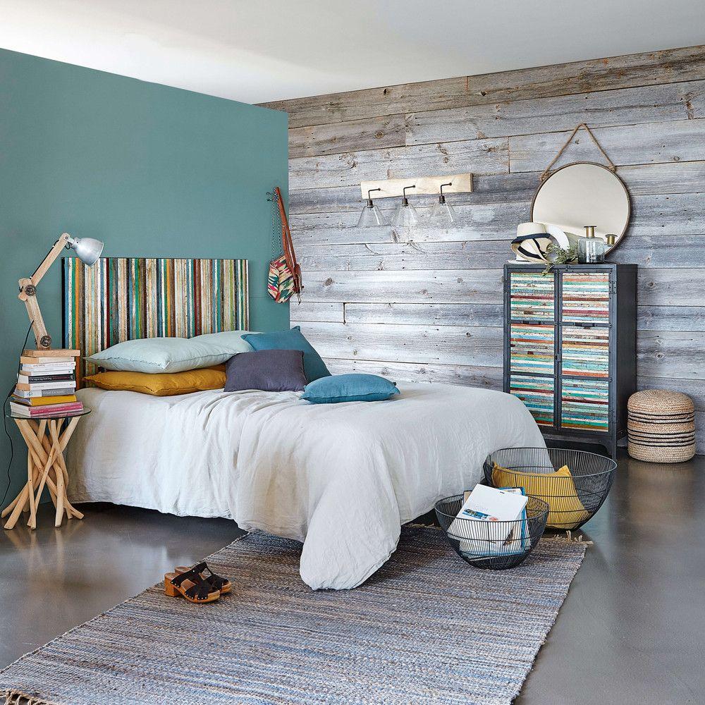 Testata da letto 160 in legno riciclato multicolore effetto anticato bahia maisons du monde home - Testata letto maison du monde ...