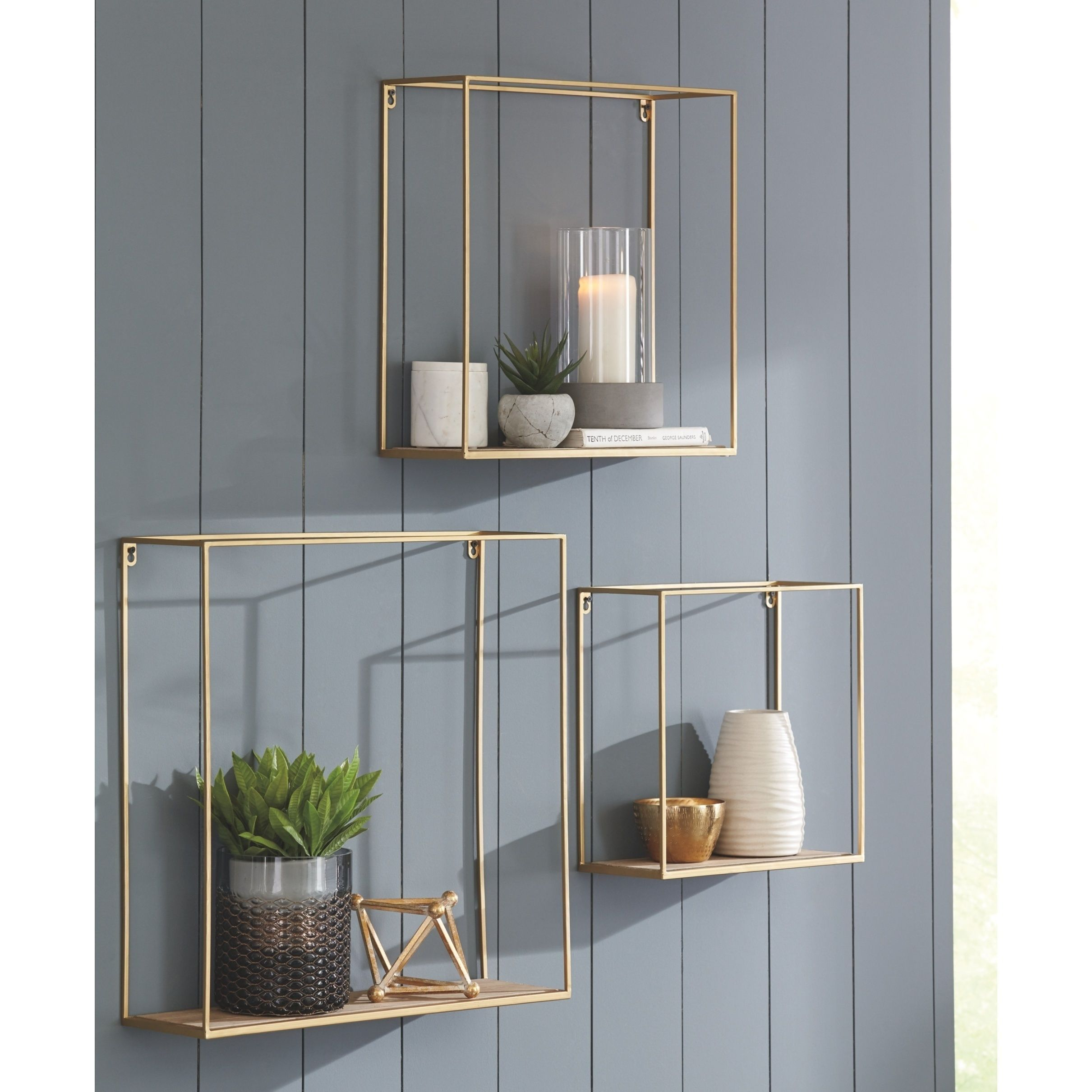Efharis Gold Wall Shelf Natural Home