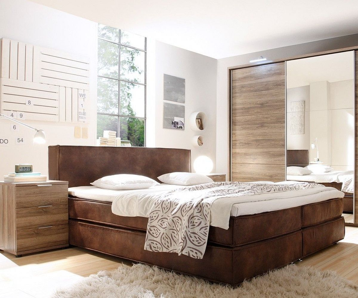 boxspringbett kenan 180x200 braun wildlederoptik topper delife deluxe beds pinterest. Black Bedroom Furniture Sets. Home Design Ideas
