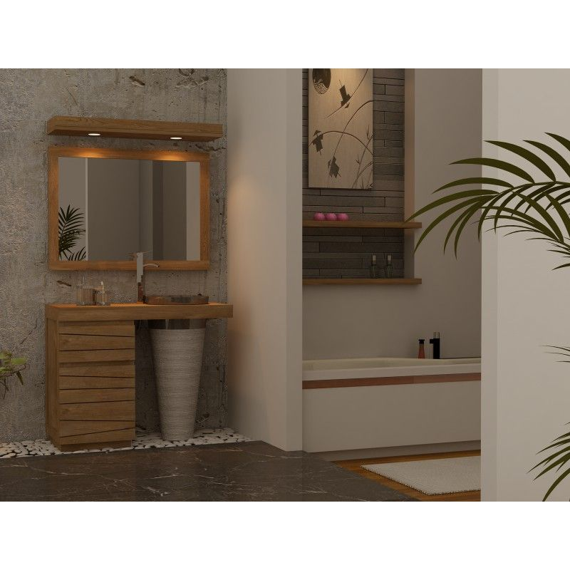 Meuble salle de bain en teck TIMARE à simple vasque salle de bain