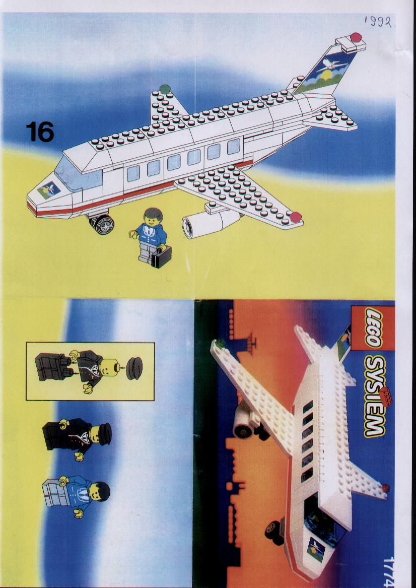 City Aircraft Lego 1774 Instructions Lego Instructions And
