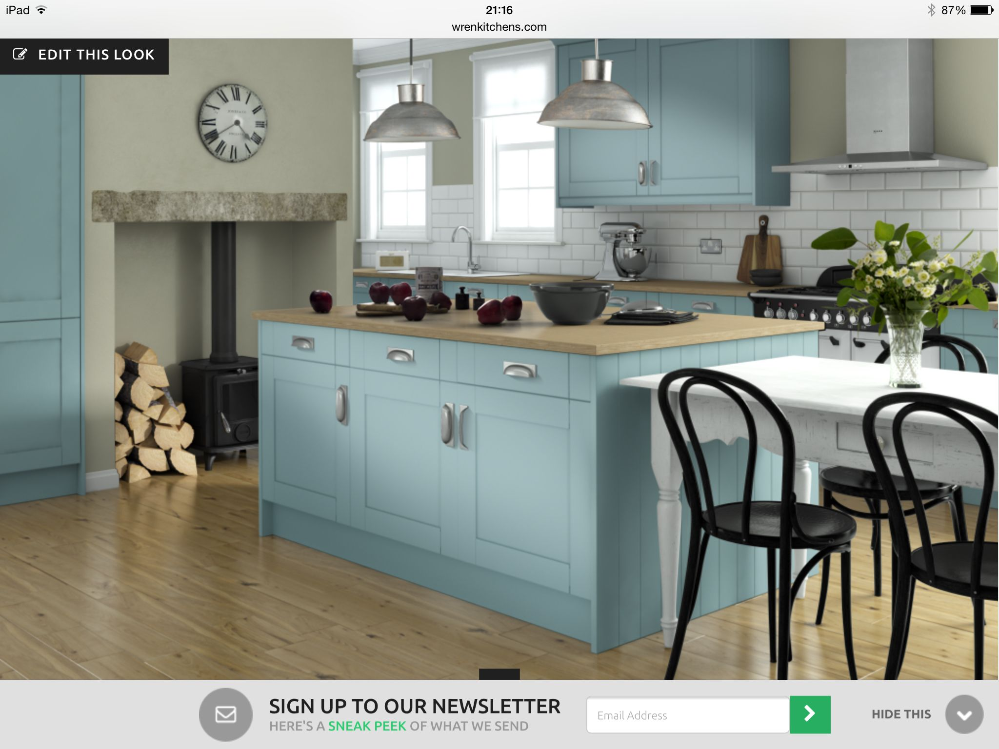 Possible kitchen idea colour of doors and work top
