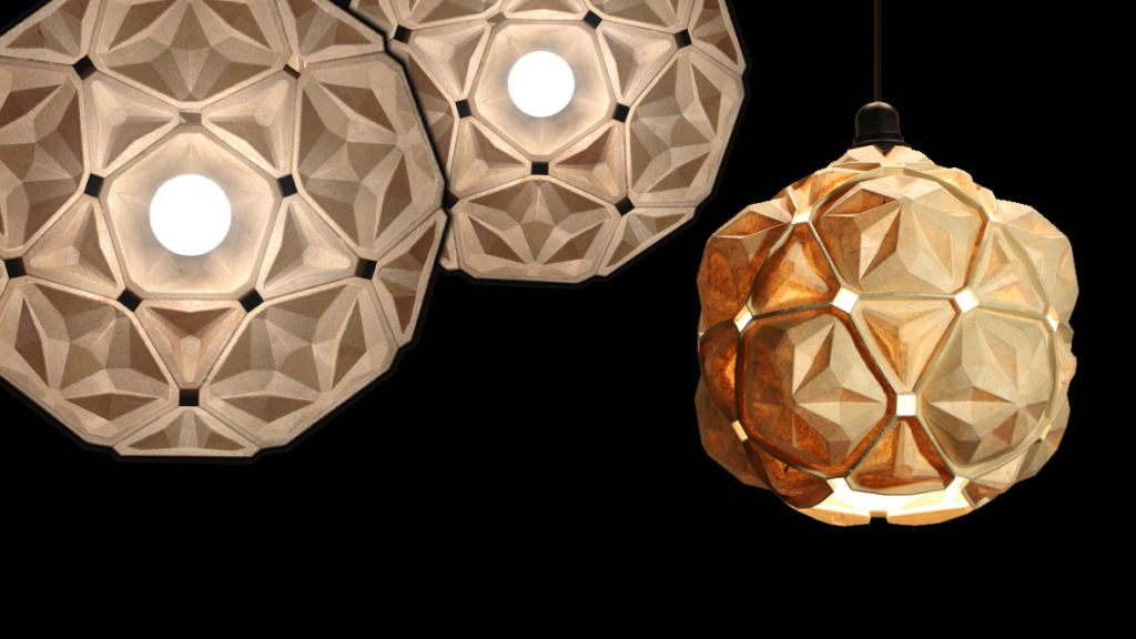 Designer promove a sustentabilidade com luminária de bioplástico feito de resíduos de mandioca     VISITE TAMBÉM NOSSAS PAGINAS:   www.polpatec.com.br www.polpatec.blogspot.com.br