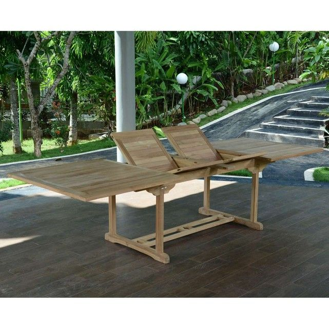 Table de Jardin en Teck Extensible 300 x 110 cm - Sydney ...