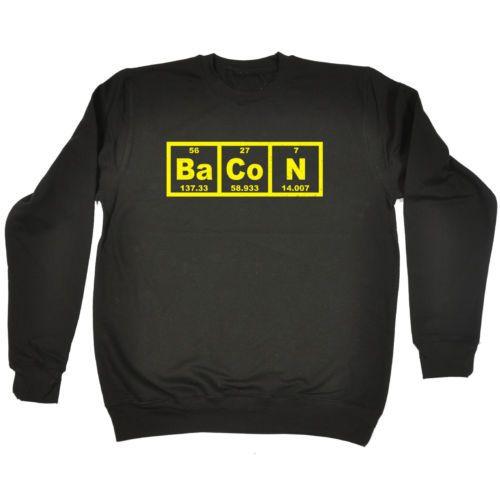 Detalles de sudadera tocino tabla peridica profesor de qumica de bacon periodic table sweatshirt chemistry teacher pork butcher gift birthday ebay urtaz Images