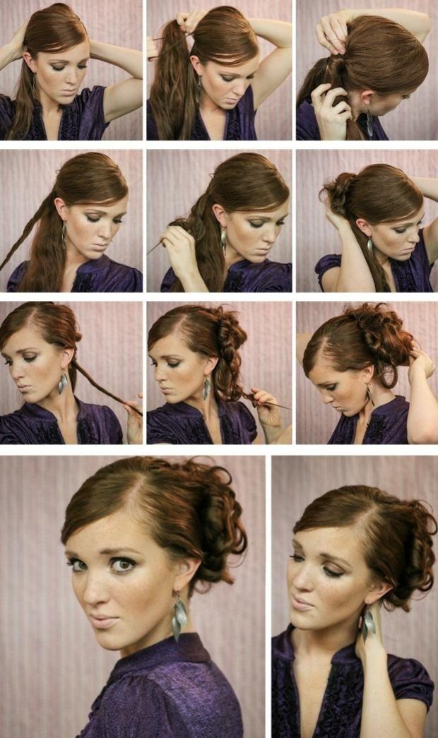 Locken Hochsteckfrisur Lange Haare Abend Haare Pinterest