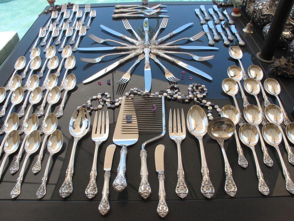 4   International Deep Silver   GOLDEN ORLEANS   Gold Silverplate Dinner Knives