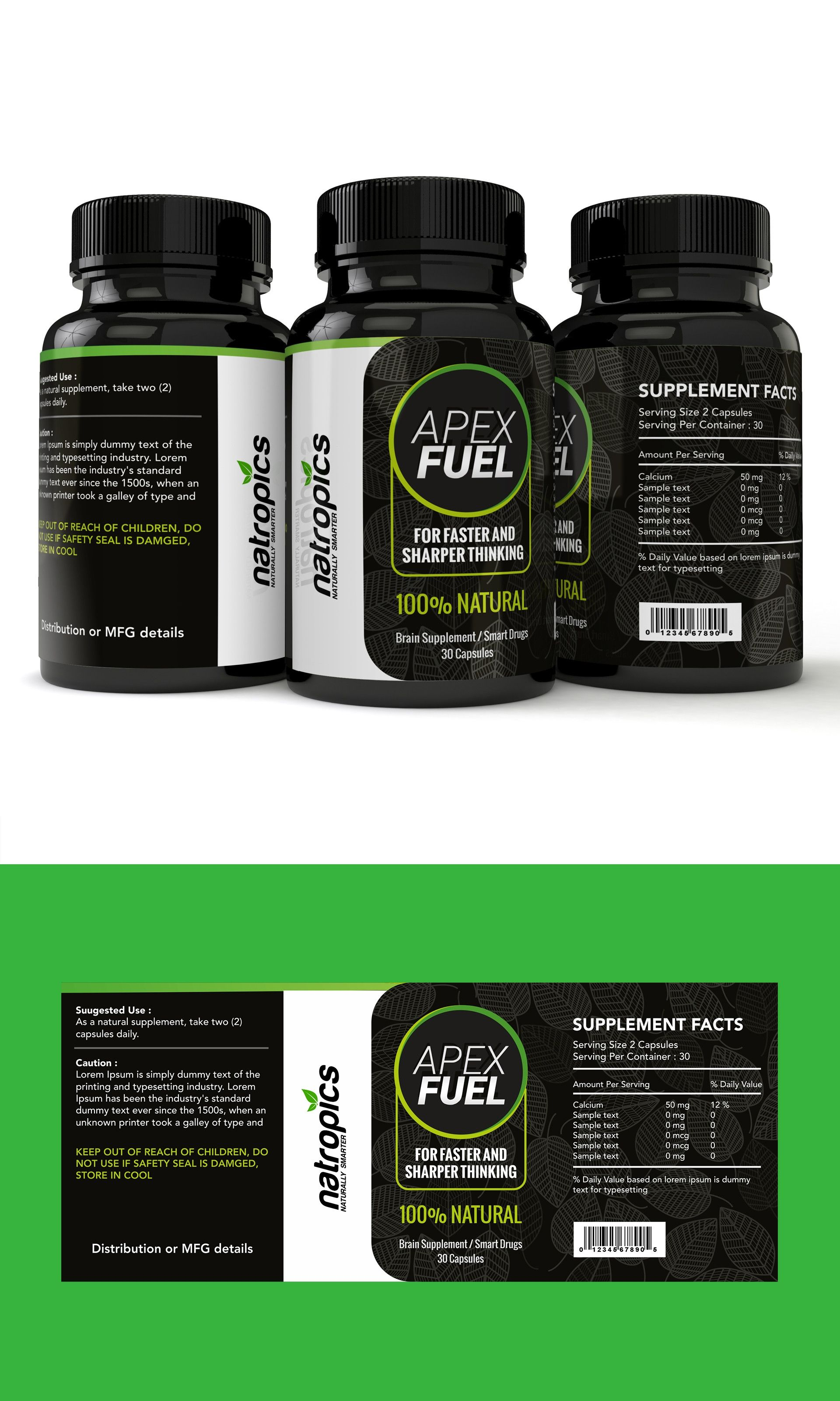 Contest 50 product label design for a dietary