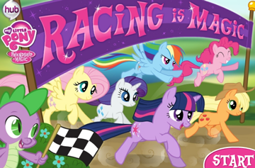 Racing is Magic The Game [MLP] | My Little Pony Games - Friendship Is Magic  | My little pony games, My little pony collection, My little pony