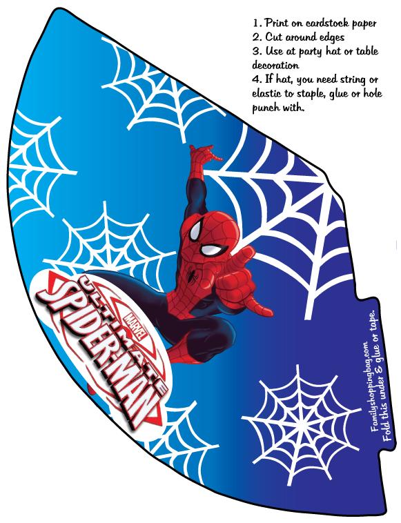 Pin By Eliana Dawood On Superhero Party Ideas Spiderman Party Party Hats Spiderman Birthday Party