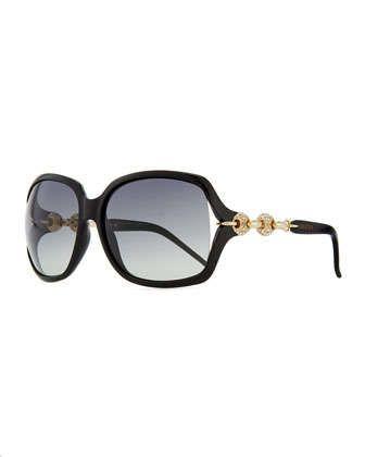 df3f054b5f3 Large Sunglasses with Logo Arm