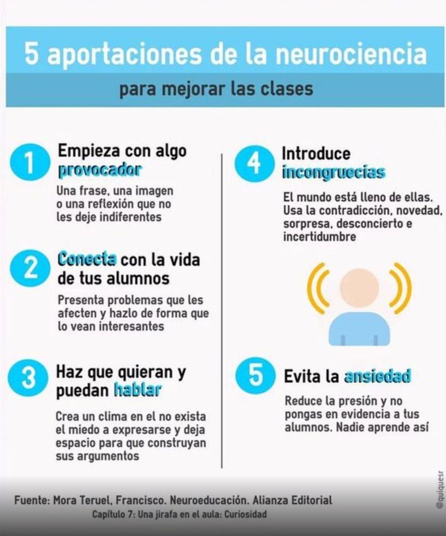 Neurociencia para mejorar las clases. Francisco Mora Teruel