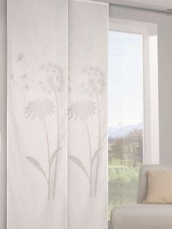 ausbrenner fl chenvorhang mit pusteblumen ma e ca 255 x 60 cm hxb gardinen vorh nge. Black Bedroom Furniture Sets. Home Design Ideas