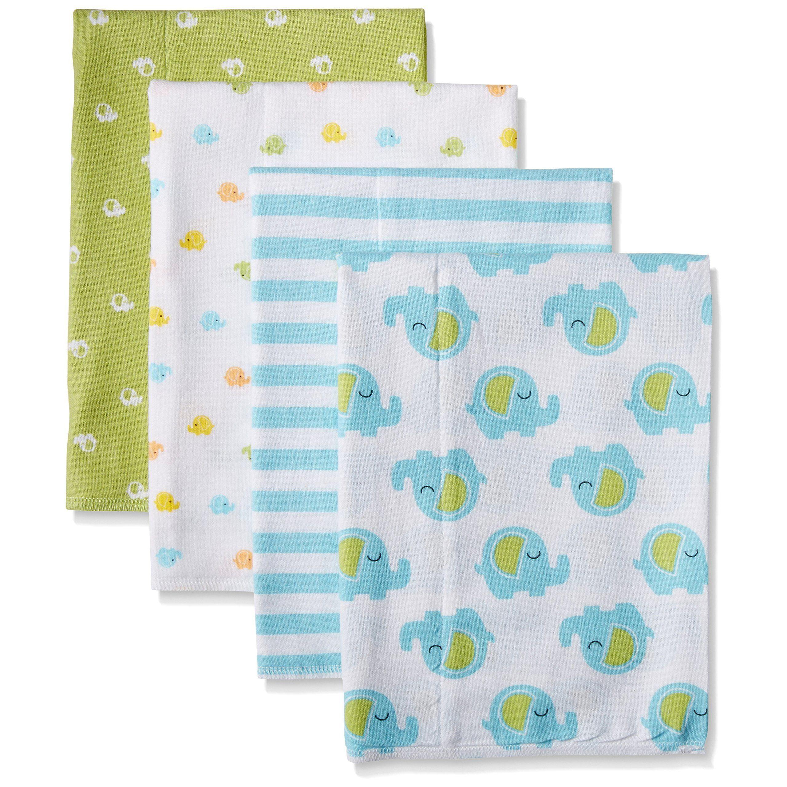 Gerber Unisex Baby 4 Pack Print Flannel Burp Cloth - Amazon - NEED!