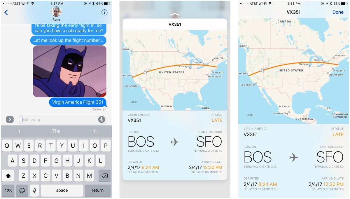 How to quickly track your flights in iMessage for iPhone