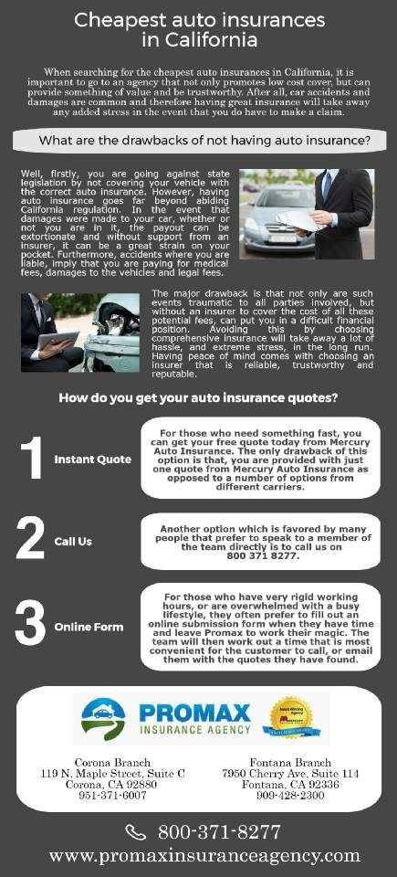 When Searching For The Cheapest Auto Insurances In California It