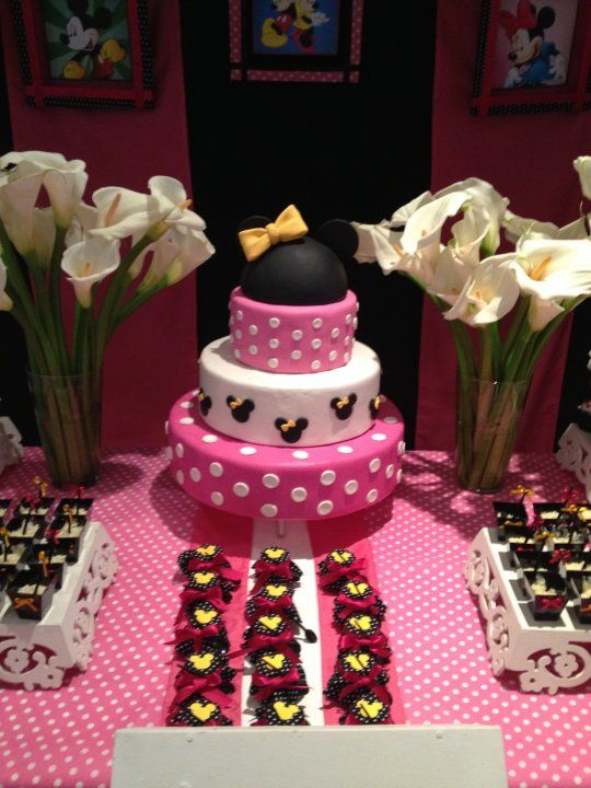 Bolos Cenográficos -bolo minie rosa