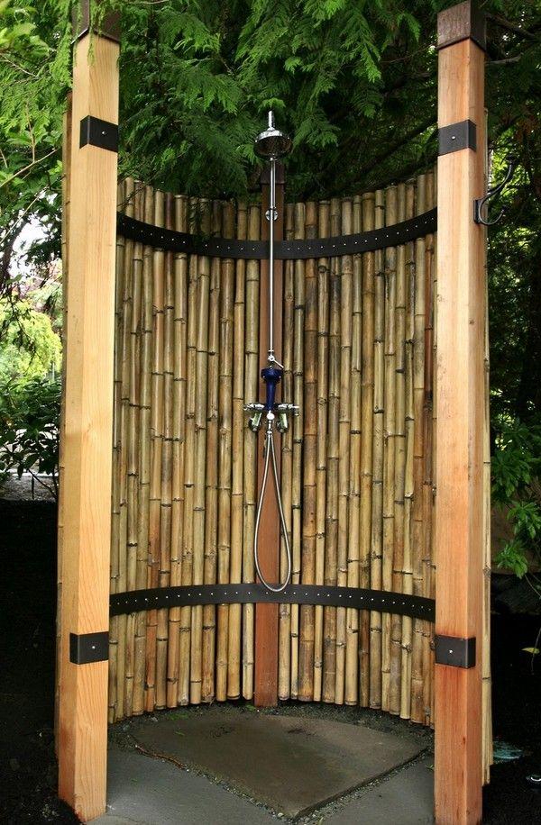 Attraktive Bambus Einfache Projekte Bambus Ist Die Perfekte Wahl Fur Diejenigen Unter Ihnen Die Es Lieben Ihr Zu Gartendusche Aussenbad Bambus Garten