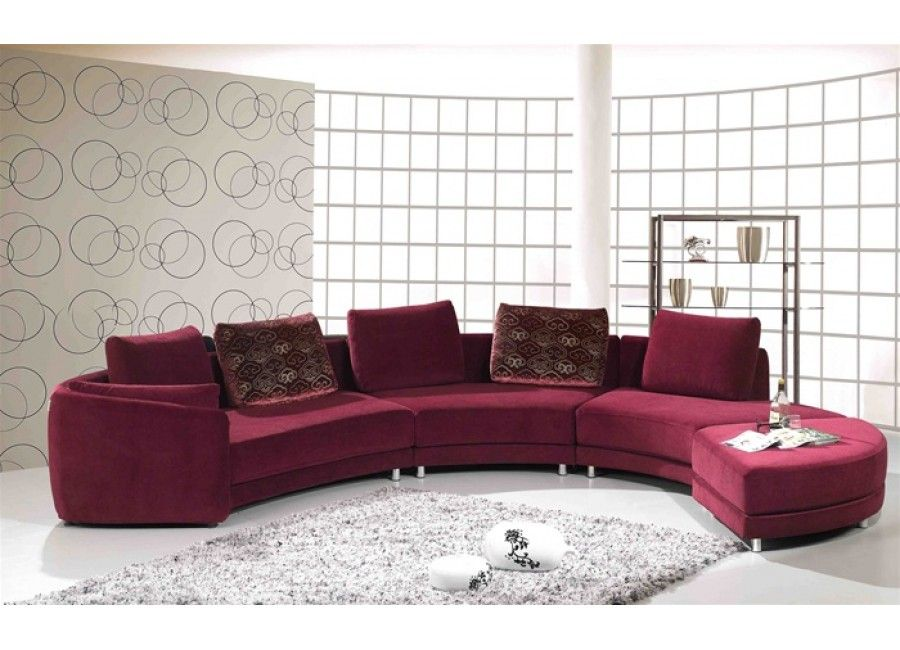 Ruby Red Microfiber Sectional Sofa | Home/Apartment ...