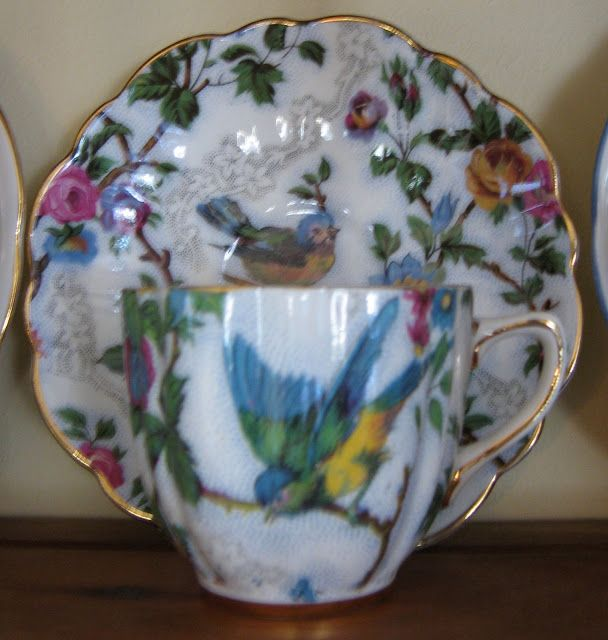 Teacup Lane: Blue Bird Teacup & Saucer
