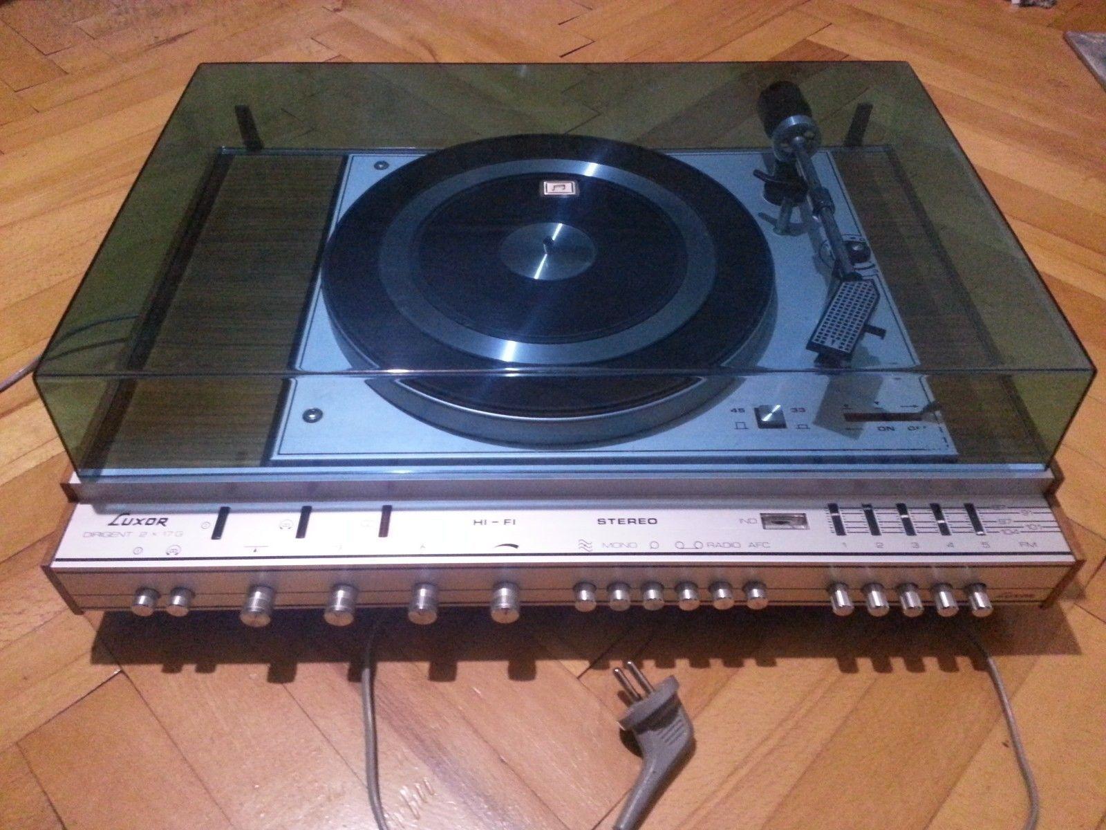 Audio · Sällsynta Vintage LUXOR Dirigent 2 x 17G stereoförstärkare RECEIVER  Skivspelare a0535378138f3
