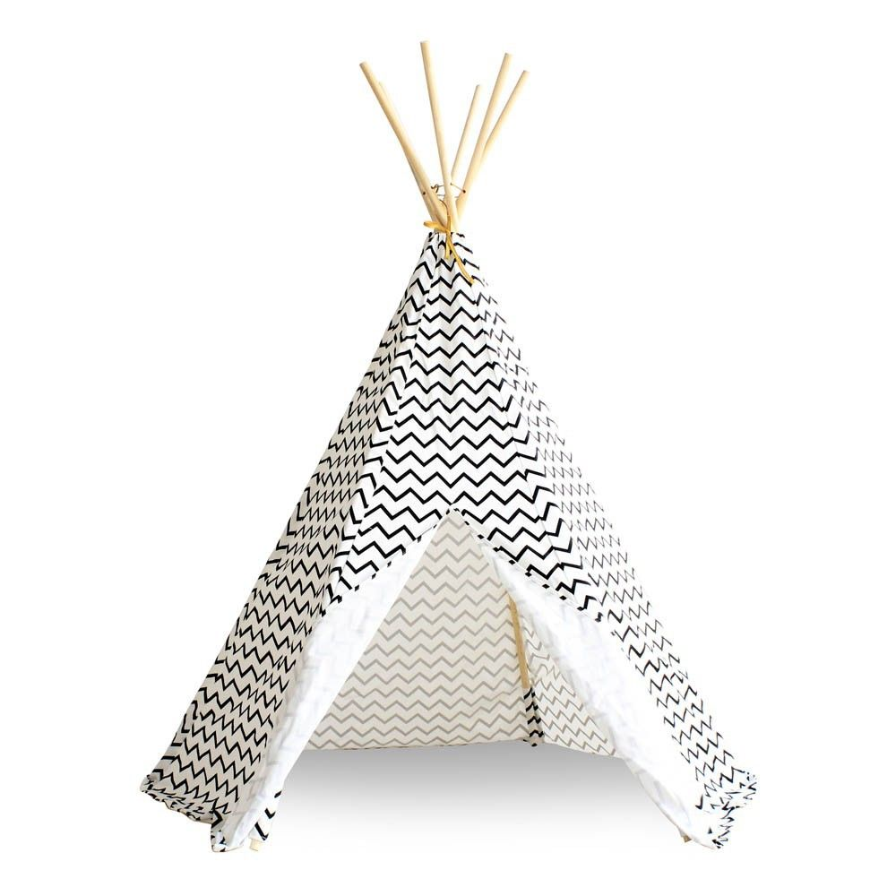 tipi arizona zig zag noir k i d s tipi kids. Black Bedroom Furniture Sets. Home Design Ideas