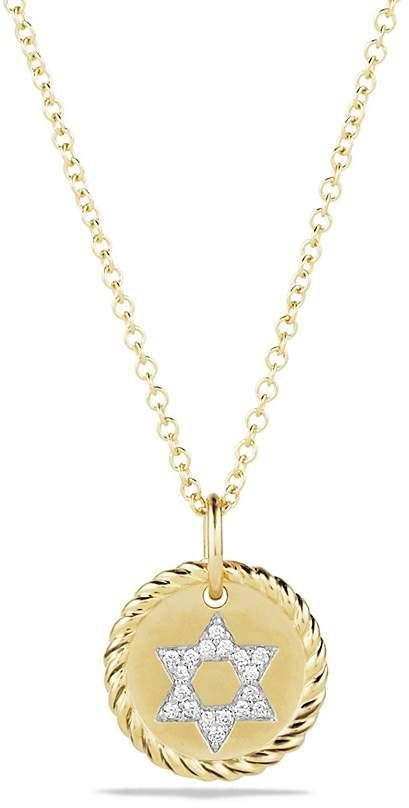 722fd8f3de31 David Yurman Cable Collectibles Star of David Necklace with Diamonds in 18K  Gold