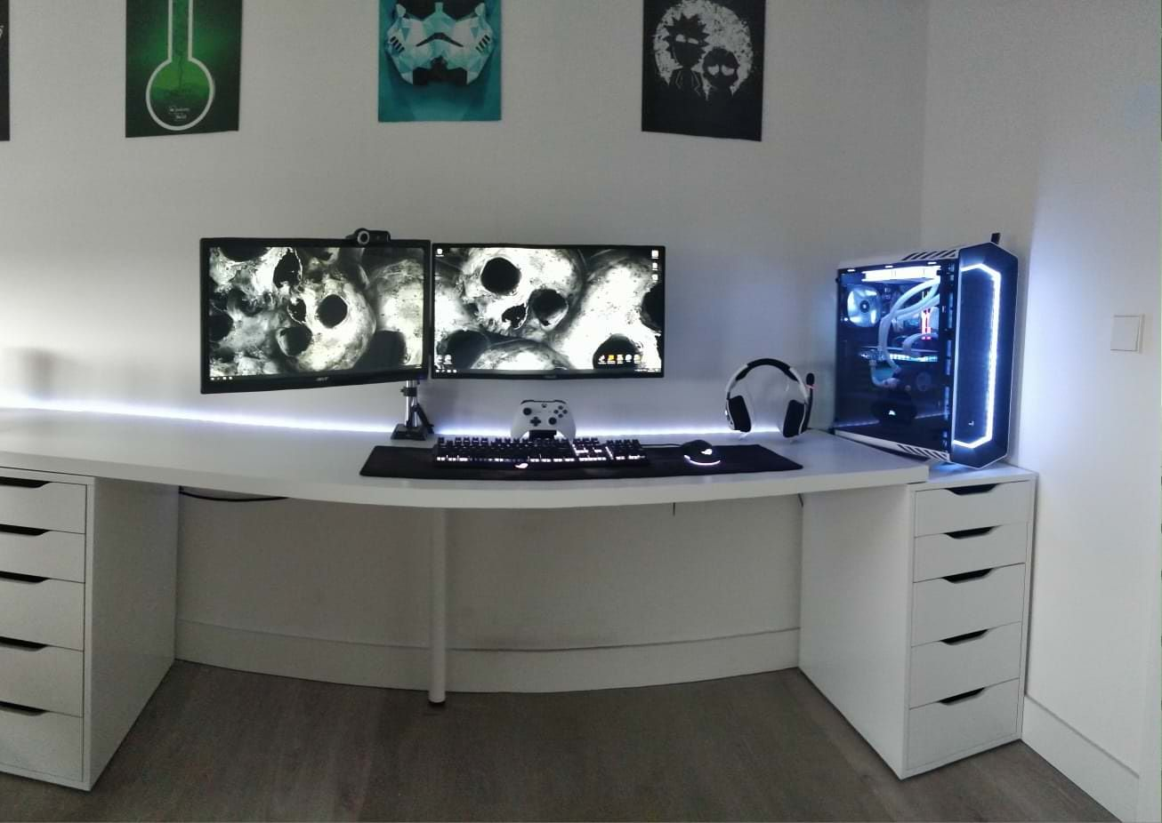 Clean Black White Setup Setup Pc Setup Black And White