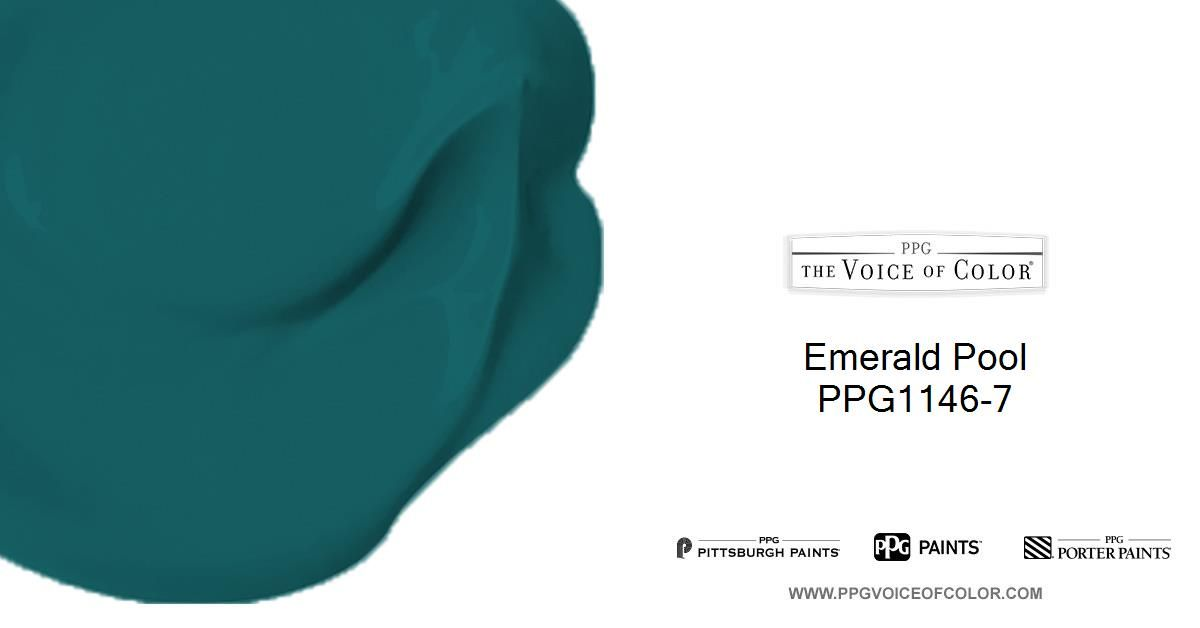 Emerald Pool Ppg1146 7 From Ppg Voice Of Color Pittsburgh Paint Trending Paint Colors Paint Color Inspiration