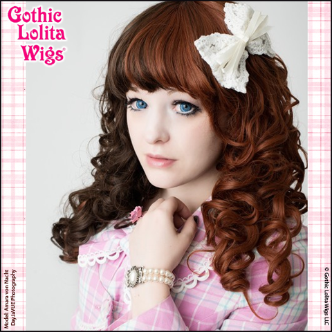 In love . I want this .Gothic Lolita Wigs® Lady Amara™ Collection - Auburn & Dark Brown Split – Dolluxe®