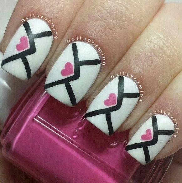 V-day Nails... cute!
