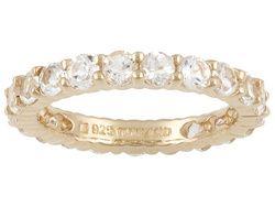 Stratify(Tm) 3.60ctw Round White Topaz 18k Rose Gold Over Sterling Silver Ring Erv $88.00