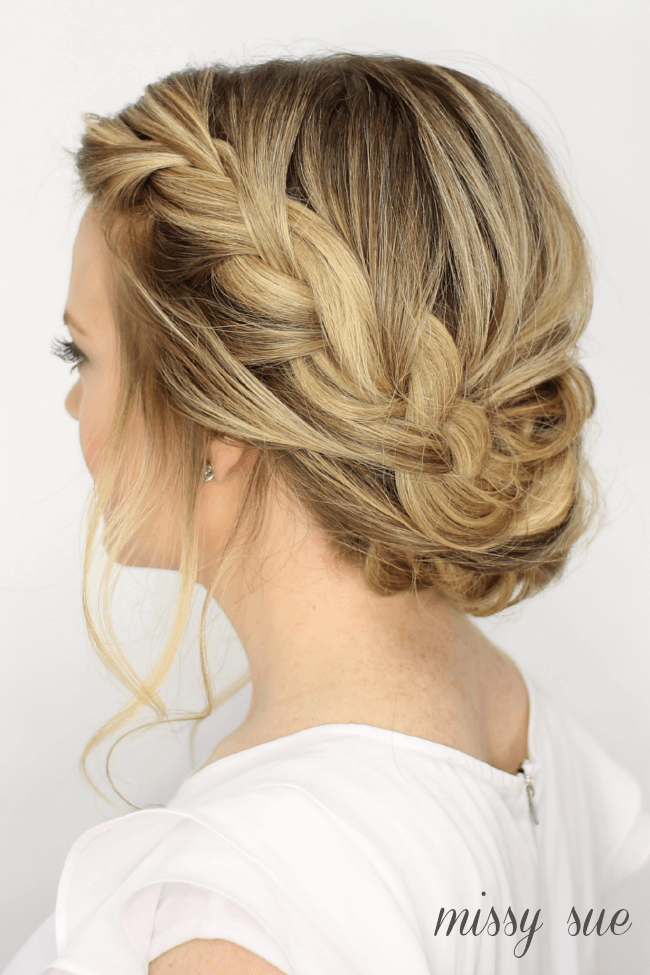 Fancy French Braid Updo French Braid Updo Hair Styles Plaits Hairstyles