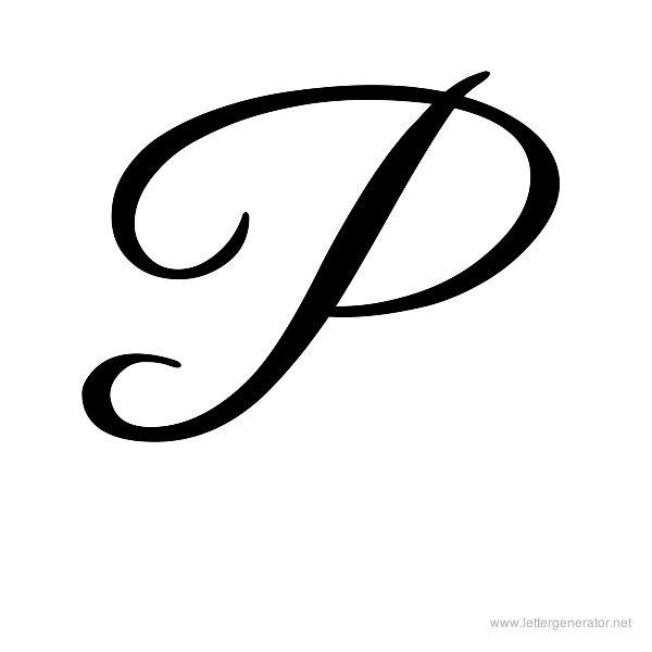 600x600 Letter P Clipart Letter P Tattoo Cursive Tattoos Fancy Cursive