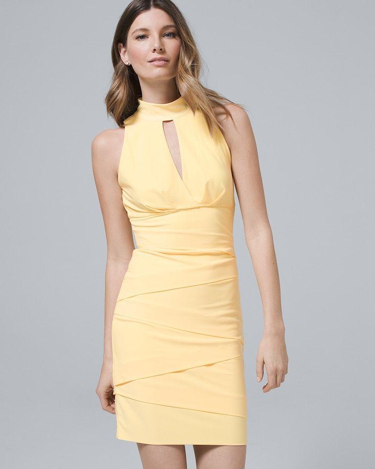 3b636f19 Women's Mock-Neck Instantly Slimming Sheath Dress by White House Black  Market