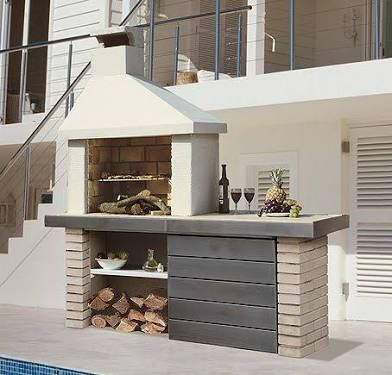 Resultado de imagen para asadores de ladrillo para jardin for Asadores de concreto para jardin