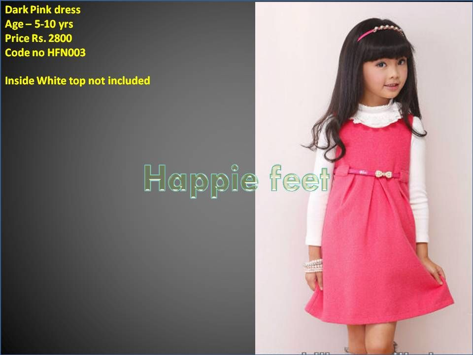 To shop for this dress, go to http://happiefeet.in/Party-Collection/One-pc-Party-dress-Dark-pink-id-323191.html