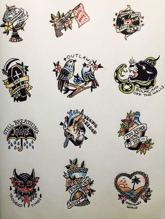 La Bola Del Mundo Y Quiza Las Golondrinas Tatuaje De Green Day