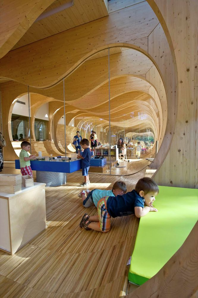 Gallery of kindergarten in guastalla mario cucinella for Raumgestaltung schule