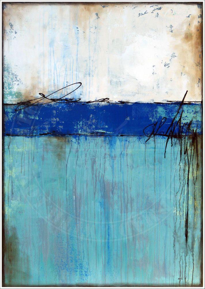 ANTJE HETTNER Bild ORIGINAL Kunst GEMLDE Leinwand MALEREI abstrakt XXL Acryl  eBay  Kunst