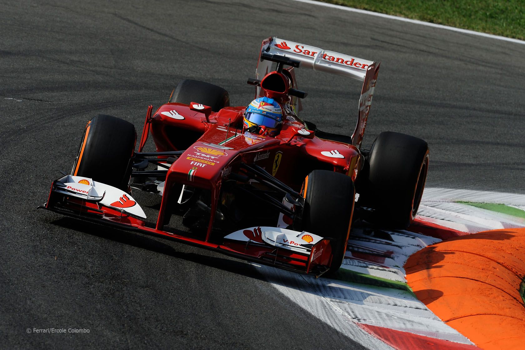 F1 - 2013 - Italy - Ferrari's Alonso in P2 at Monza ...