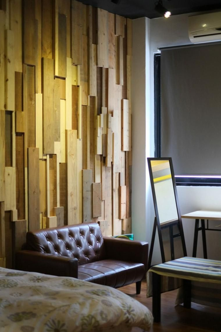Wande Mit Holz Fur Schlafzimmer Wandgestaltung Wohnzimmer Wandgestaltung Coole Wanddekoration