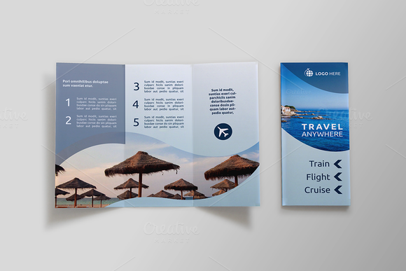 Travel Tri-fold Brochure - Dal by NEXDesign on @creativemarket
