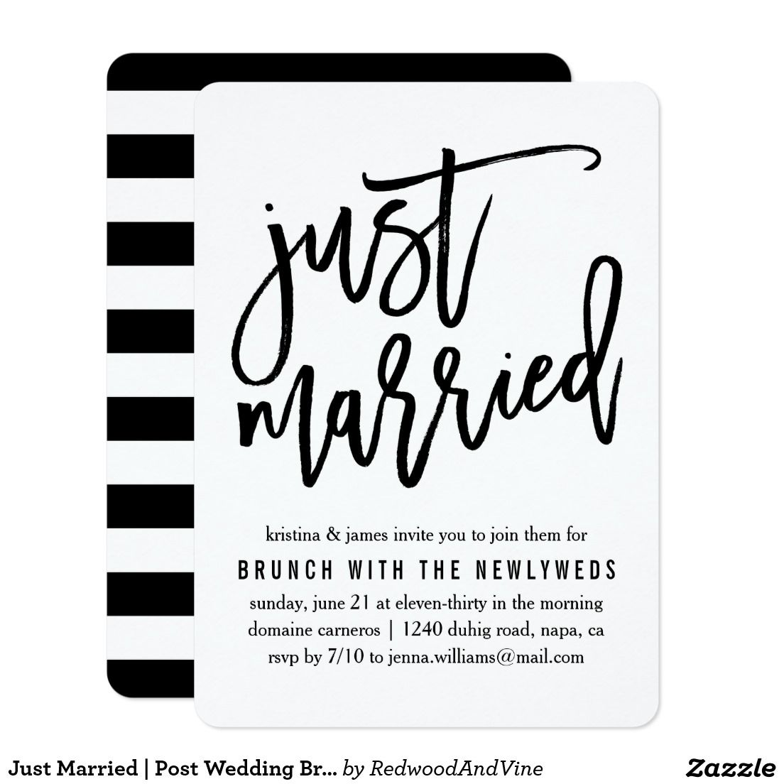 Just Married | Post Wedding Brunch Invitation | Pinterest | Brunch ...