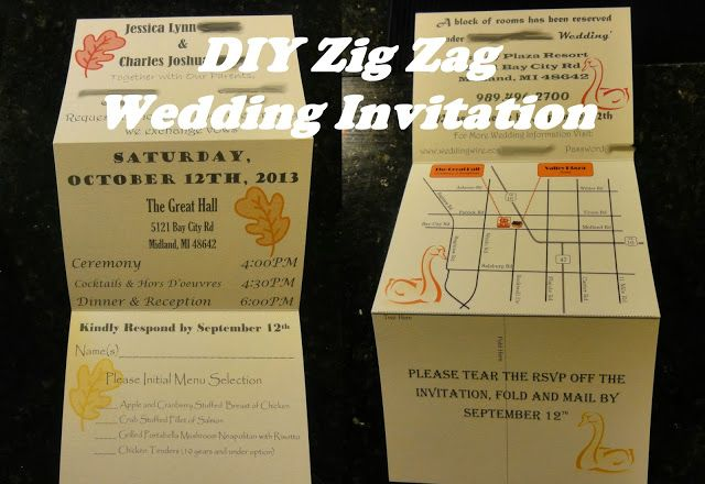 Love life from scratch evolution of the wedding invitation zig zag love life from scratch evolution of the wedding invitation zig zag wedding invitation diy do stopboris Choice Image